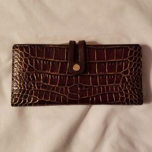 Abas brown crocodile wallet